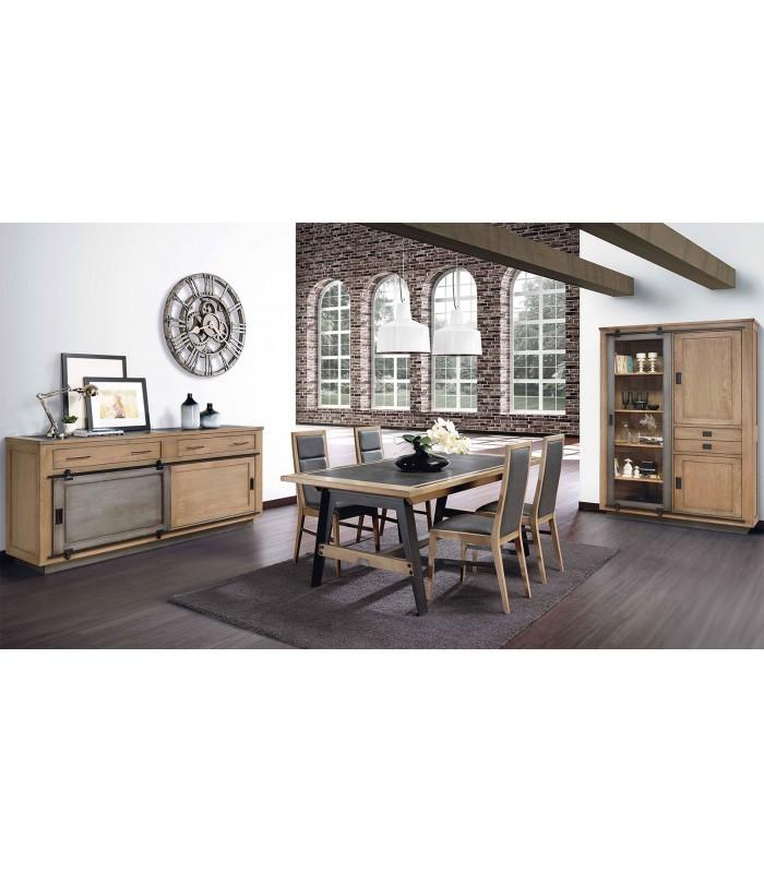 Bahut style atelier avec portes coulissantes b730460edb12