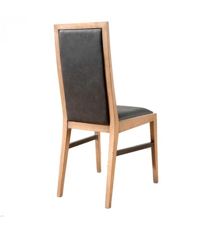 Chaise style atelier en ch ne massif fran ais for Chaise style atelier