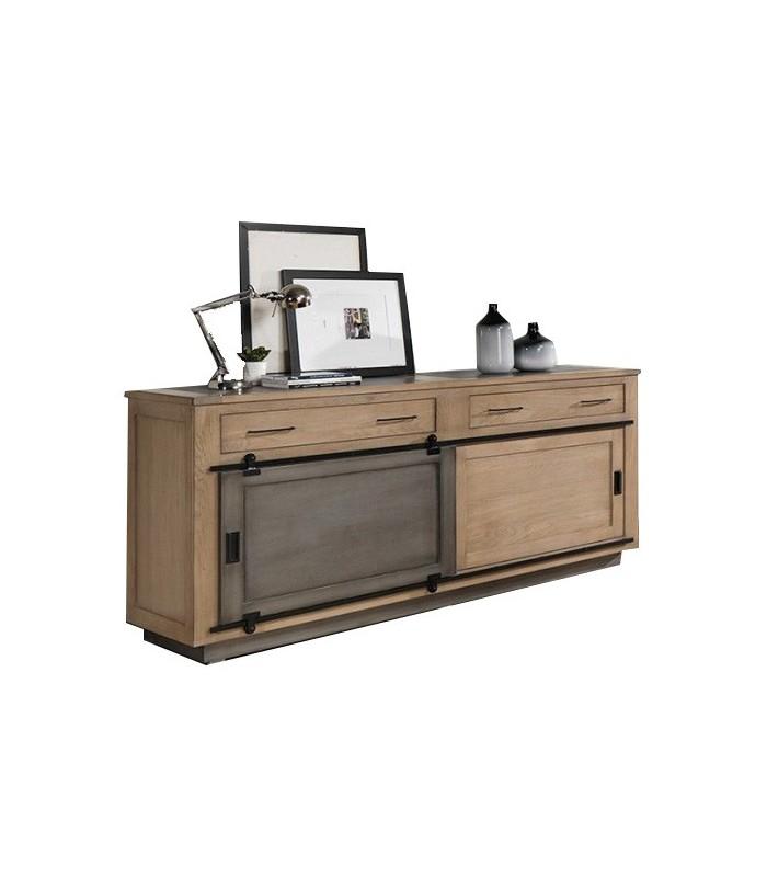 bahut style atelier avec portes coulissantes. Black Bedroom Furniture Sets. Home Design Ideas