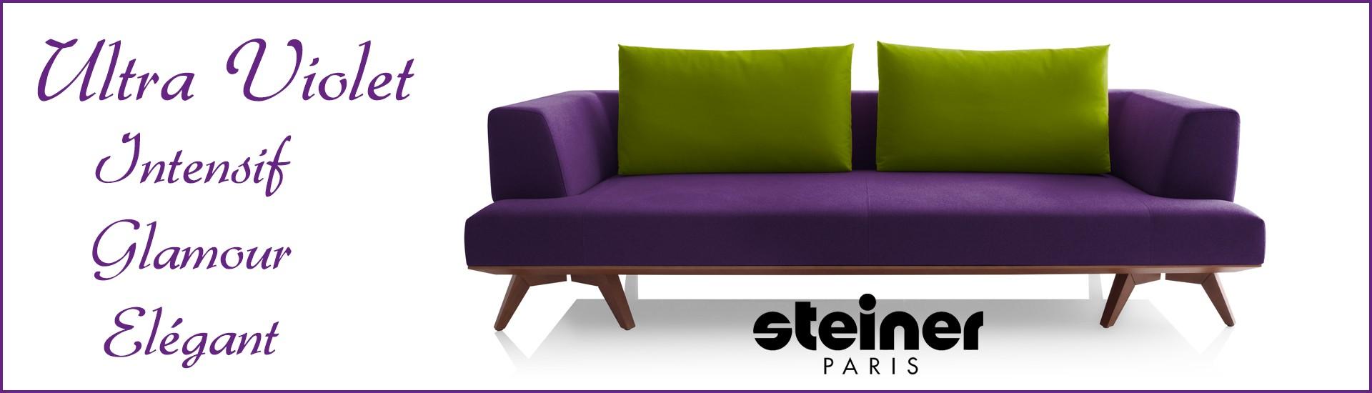 Steiner Paris Sequoia Ultra Violet Global meubles Clermont-Ferrand