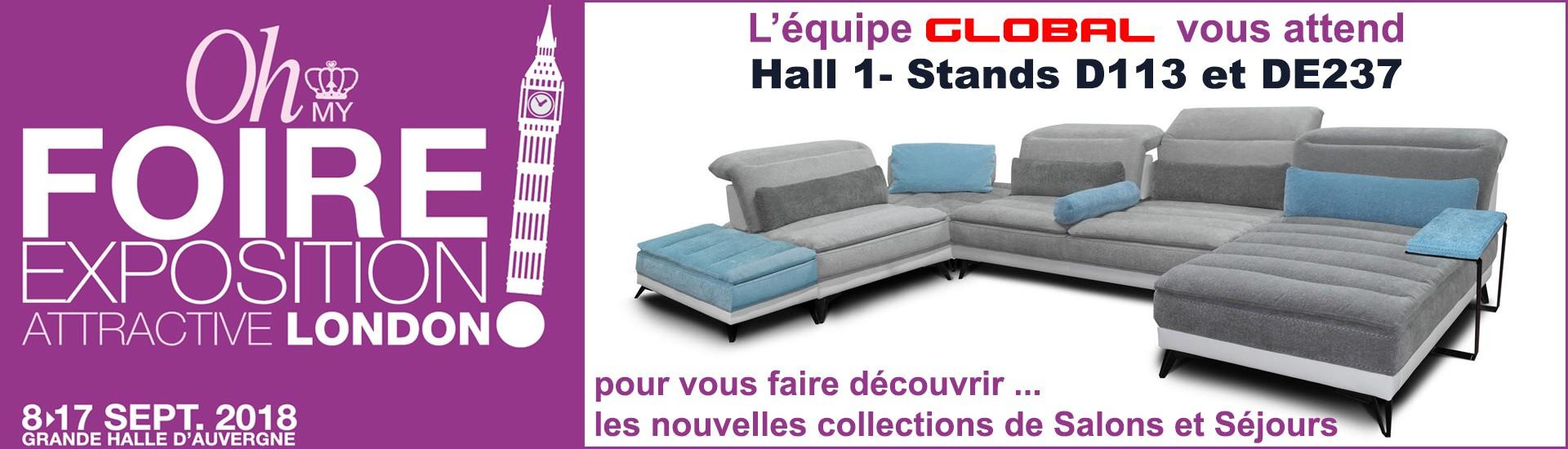 GLOBAL Meubles à la Foire de Clermont Cournon 2018