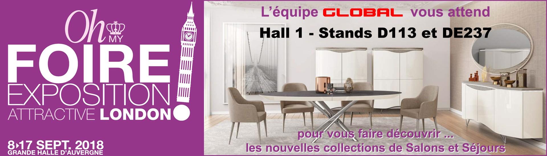 GLOBAL Meubles à la Foire de Clermont Cournon 2018 Salle à Manger
